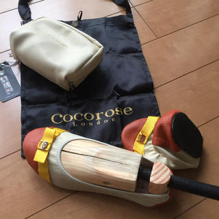 nnw様専用 COCOROSE携帯折りたたみシューズ🎗(ローファー/革靴)