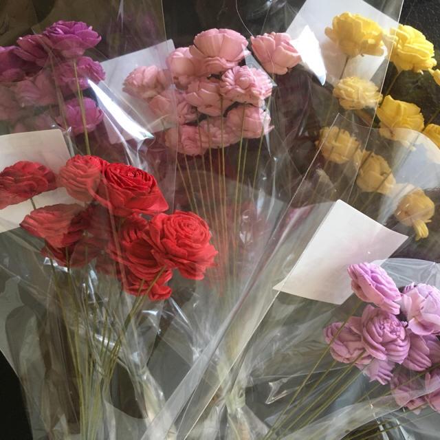 花材 ソーラーローズミニ5色set ハンドメイドのフラワー/ガーデン(ドライフラワー)の商品写真