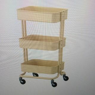 イケア(IKEA)の最終値下げ⭐新品未使用⭐送料込 イケア ワゴン RASKOG ベージュ(キッチン収納)