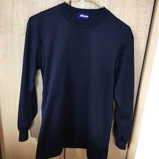 ミズノ(MIZUNO)のミズノ丸首ローネック 長袖、半袖アンダーシャツ二枚(シャツ)