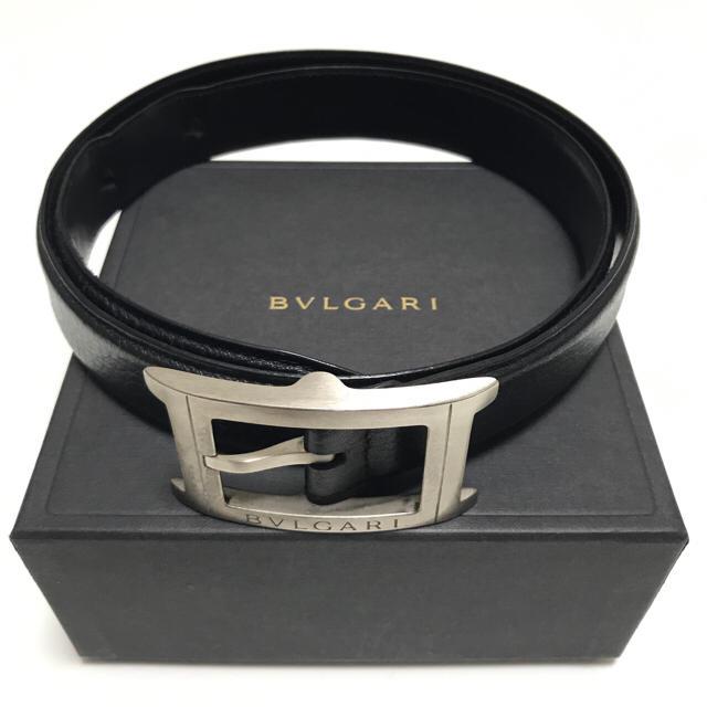 buy online d17ff fc3e9 BVLGARI ブルガリ ベルト メンズ ブラック レザー   フリマアプリ ラクマ