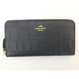 コーチ(COACH)のCOACH コーチ 型押し 長財布 クロコダイル F54757 IMMID(財布)