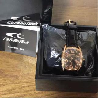 クロノテック(CHRONOTECH)の【未使用品】レディース クロノテック腕時計(ブラック)(腕時計)
