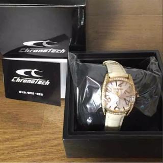 クロノテック(CHRONOTECH)の【未使用品】レディース クロノテック腕時計(ホワイト)(腕時計)