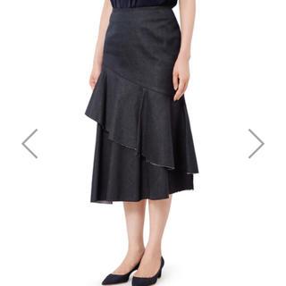 ルシェルブルー(LE CIEL BLEU)のLE CIEL BLEU ペプラムフレアスカート(ひざ丈スカート)