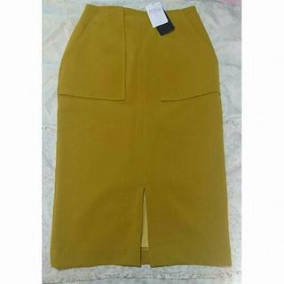 シップス(SHIPS)のダブルクロスポケットタイトスカート(ひざ丈スカート)