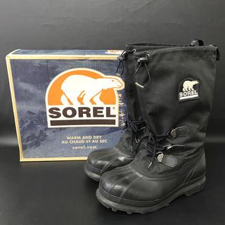 ソレル(SOREL)のSOREL ソレル ブーツ 28cm 黒 ブラック スノーブーツ 防雪 防水(ブーツ)