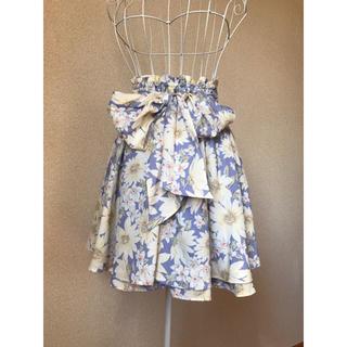 リズリサ(LIZ LISA)の新品未着用 LIZLISA 大きなリボンの花柄スカート(ひざ丈スカート)