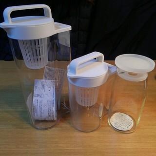 ムジルシリョウヒン(MUJI (無印良品))の未使用 無印良品 アクリル冷水筒 耐熱ピッチャー 3点セット (その他)
