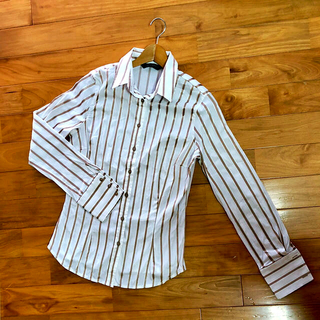 ザラ(ZARA)のZARA ストライプワイシャツ(シャツ/ブラウス(長袖/七分))