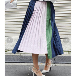 アメリヴィンテージ(Ameri VINTAGE)のアメリヴィンテージ カラードッキングプリーツスカート(その他)