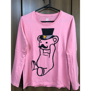 グラニフ(Graniph)の【グラニフ】長袖Tシャツ ピンク SSサイズ(Tシャツ/カットソー(七分/長袖))