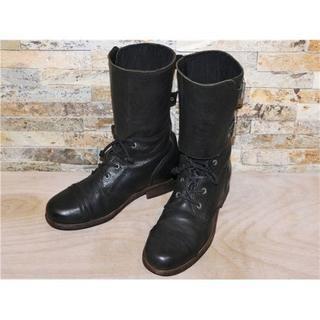 オールセインツ(All Saints)の美品 オールセインツ ALL SAINTS ミリタリーブーツ 黒 25,5cm(ブーツ)
