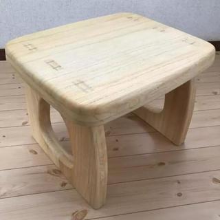 新品 木製 ミニテーブル ベンチにも(コーヒーテーブル/サイドテーブル)
