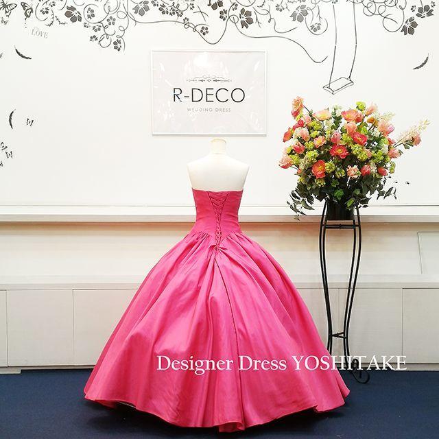 ウエディングドレス ピンク 披露宴/二次会 レディースのフォーマル/ドレス(ウェディングドレス)の商品写真