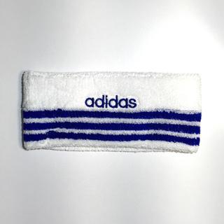 アディダス(adidas)の新品 adidas ヘッドバンド 90年代 デッドストック 送料込み 白青(ヘアバンド)