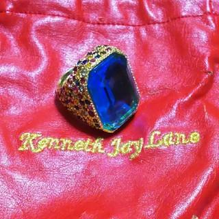 ケネスジェイレーン(Kenneth Jay Lane)の最終価格Kenneth Jay Lane  ブルーリング(リング(指輪))