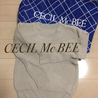 セシルマクビー(CECIL McBEE)の新品 春ニット レディース インデックス グローバルワーク レトロガール(ニット/セーター)