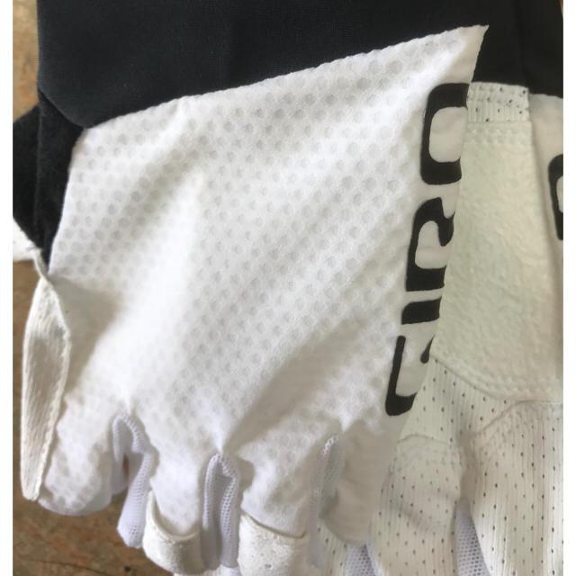 高グリップ感 GIRO ZERO CS指切りグローブ  ホワイト  Lサイズ スポーツ/アウトドアの自転車(ウエア)の商品写真