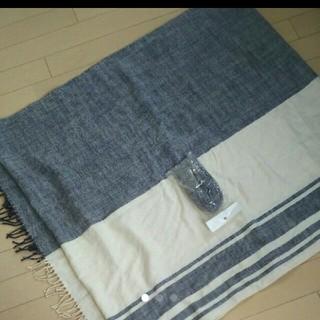 ムジルシリョウヒン(MUJI (無印良品))の無印 多目的 ストール スヌード 巻きスカートにも シャビー フレンチ マリン(ストール/パシュミナ)