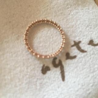 アガット(agete)のアガット ピンキーリング1号(リング(指輪))