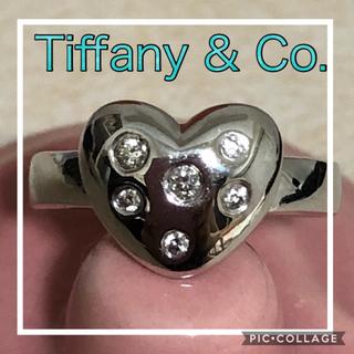 ティファニー(Tiffany & Co.)の♡限定セール♡☆超美品☆ティファニー K18WG ダイヤリング ハート 9号(リング(指輪))