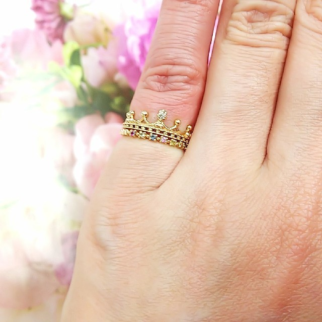 NOJESS(ノジェス)のNOJESS K10 マルチカラーピンキーリング レディースのアクセサリー(リング(指輪))の商品写真