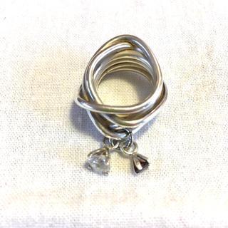 デプト(DEPT)のシルバー&揺れるジルコニア リング(リング(指輪))