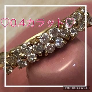 ♡限定セール! ☆超美品☆✨綺麗なダイヤ0.40ct✨K18YG  フラワー(リング(指輪))