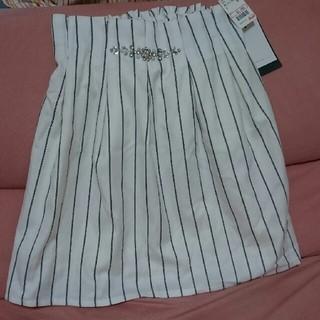 アベイル(Avail)の新品タグ付き!アベイル☆ビジュー付きストライプスカート(ミニスカート)
