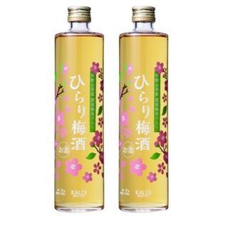 カルディ(KALDI)のひらり 梅酒 2本 KALDI 2018 桜 カルディ さくら バッグ 完売(リキュール/果実酒)