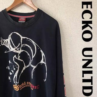 エコーアンリミテッド(ECKO UNLTD)の古着屋購入 ECKO UNLTD スウェット トレーナー デカロゴ  0322(スウェット)