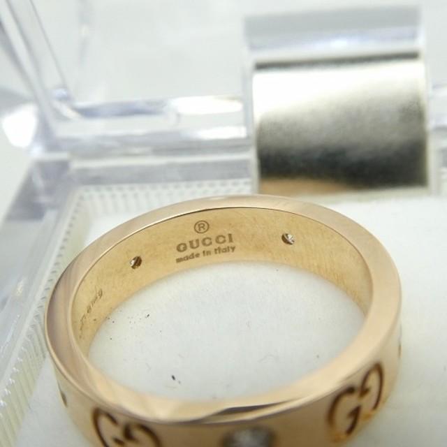 Gucci(グッチ)の専用です GUCCI ピンクゴールド ダイヤ アイコンリング 8号 指輪   レディースのアクセサリー(リング(指輪))の商品写真