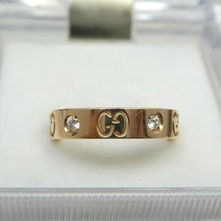 グッチ(Gucci)の専用です GUCCI ピンクゴールド ダイヤ アイコンリング 8号 指輪  (リング(指輪))