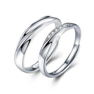純銀製指輪 レディースリング メンズリング キラキラ 結婚指輪 婚約指輪(リング(指輪))