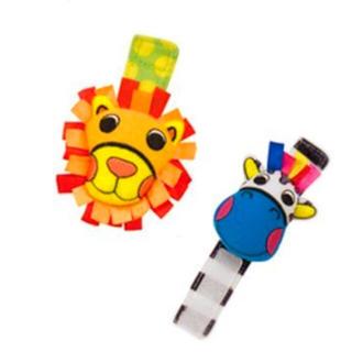 サッシー(Sassy)のsassy おもちゃ リスト・ラトル ライオン&シマウマ(がらがら/ラトル)