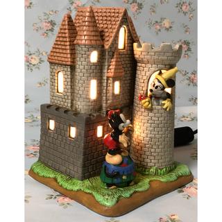ディズニー(Disney)の( 美品 ) ディズニー  陶器製   ミッキー &ミニー   インテリアランプ(テーブルスタンド)