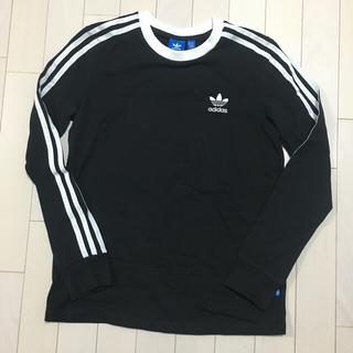 アディダス(adidas)の【新品未使用】UK10 アディダス オリジナルス 3ストライプ ロング Tシャツ(Tシャツ(長袖/七分))