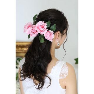【新品、日本製】造花のヘッドドレス*着物・ウェディング*豪華9点(その他)