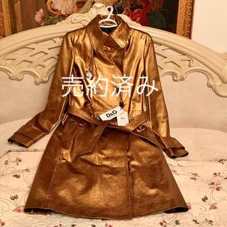 ドルチェアンドガッバーナ(DOLCE&GABBANA)のうさこ様専用   Dolce & Gabbana. 新品未使用 ラムスキンコート(毛皮/ファーコート)