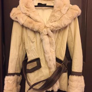 SERAPHIN - ラビットファーのホワイトコート