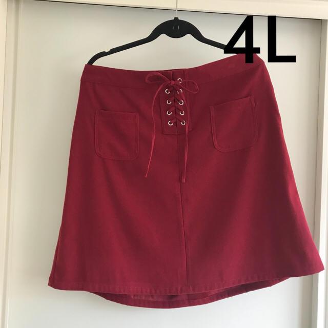 Avail(アベイル)の新品タグ付き 4Lレースアップミニスカート レディースのスカート(ミニスカート)の商品写真