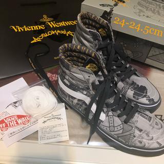 ヴィヴィアンウエストウッド(Vivienne Westwood)の完売品 ヴィヴィアン VANS  sk-8HI ハイカット スニーカー グレー (スニーカー)
