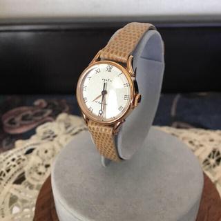 アガット(agete)の18K アガット 金無垢 時計 レディースウォッチ 定価16万(腕時計)