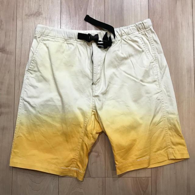 RAGEBLUE(レイジブルー)のRAGE BLUE レイジブルー ハーフパンツ イエロー 美品 メンズのパンツ(ショートパンツ)の商品写真