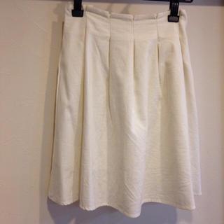 【新品】ナチュラル 膝丈スカート(ひざ丈スカート)