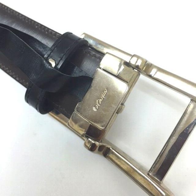 brand new 9575f 97021 カルティエ タンクアメリカン ベルト レザー リバーシブル 80cm ブラック