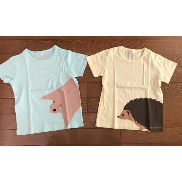 MUJI (無印良品)(ムジルシリョウヒン)の無印110キッズTシャツ2枚セット キッズ/ベビー/マタニティのキッズ服 男の子用(90cm~)(Tシャツ/カットソー)の商品写真