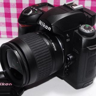 ニコン(Nikon)の❤最高の一瞬を逃さない❤Nikon D70s レンズキット★安心保証付き★(デジタル一眼)