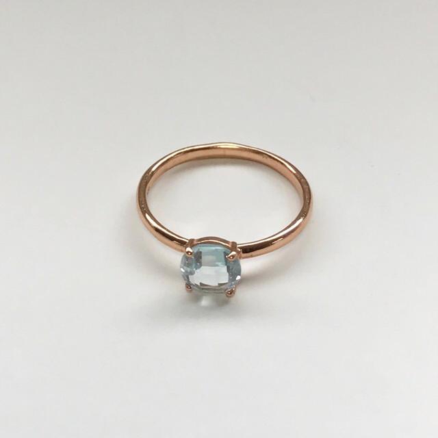 【再入荷♡】ブルートパーズのリング カラーストーンジュエリー レディースのアクセサリー(リング(指輪))の商品写真